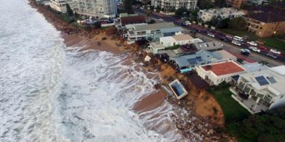 Collaroy during the 2016 storm. Credit: UNSW's Water Research Laboratory