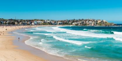 These waves at Bondi beach may have travelled tens of thousands of kilometres before reaching Australia. Image from Shutterstock.